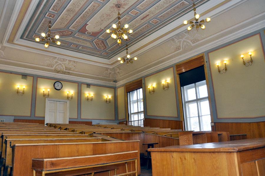 Зала, в якій читав свої лекції доктор фізіології Адольф Бек