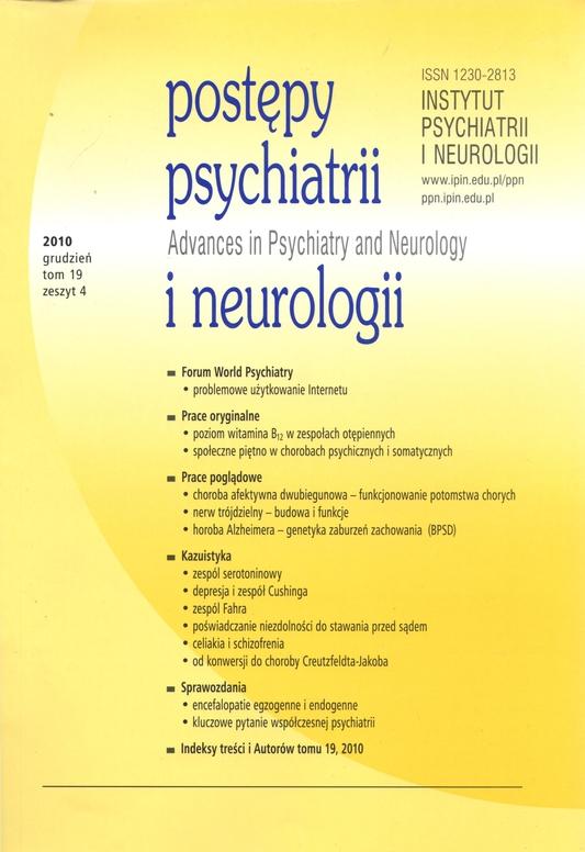 postepy psychiatrii
