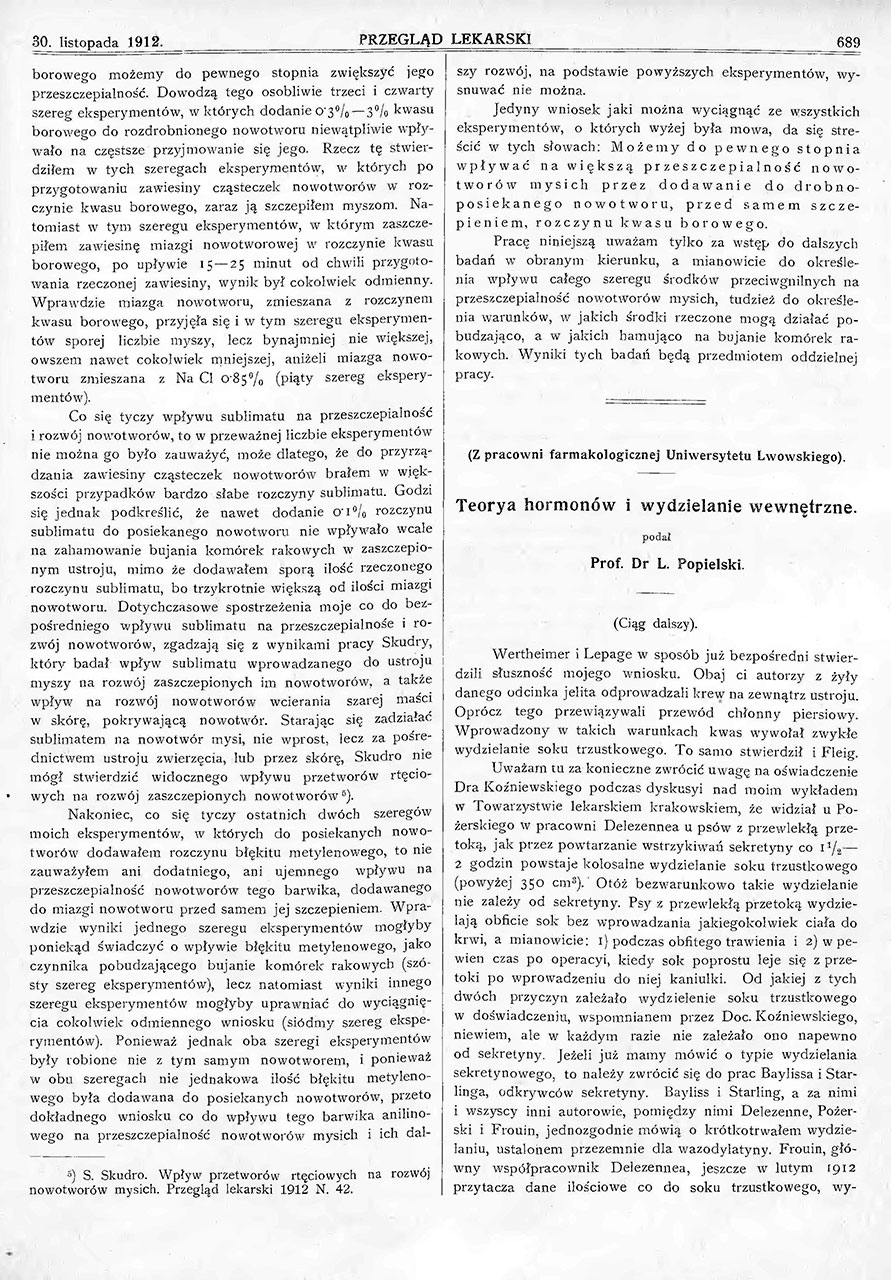 Teorja hormonów i wydzielanie wewnętrzne. St. 3