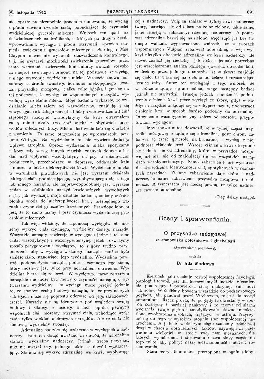 Teorja hormonów i wydzielanie wewnętrzne. St. 5