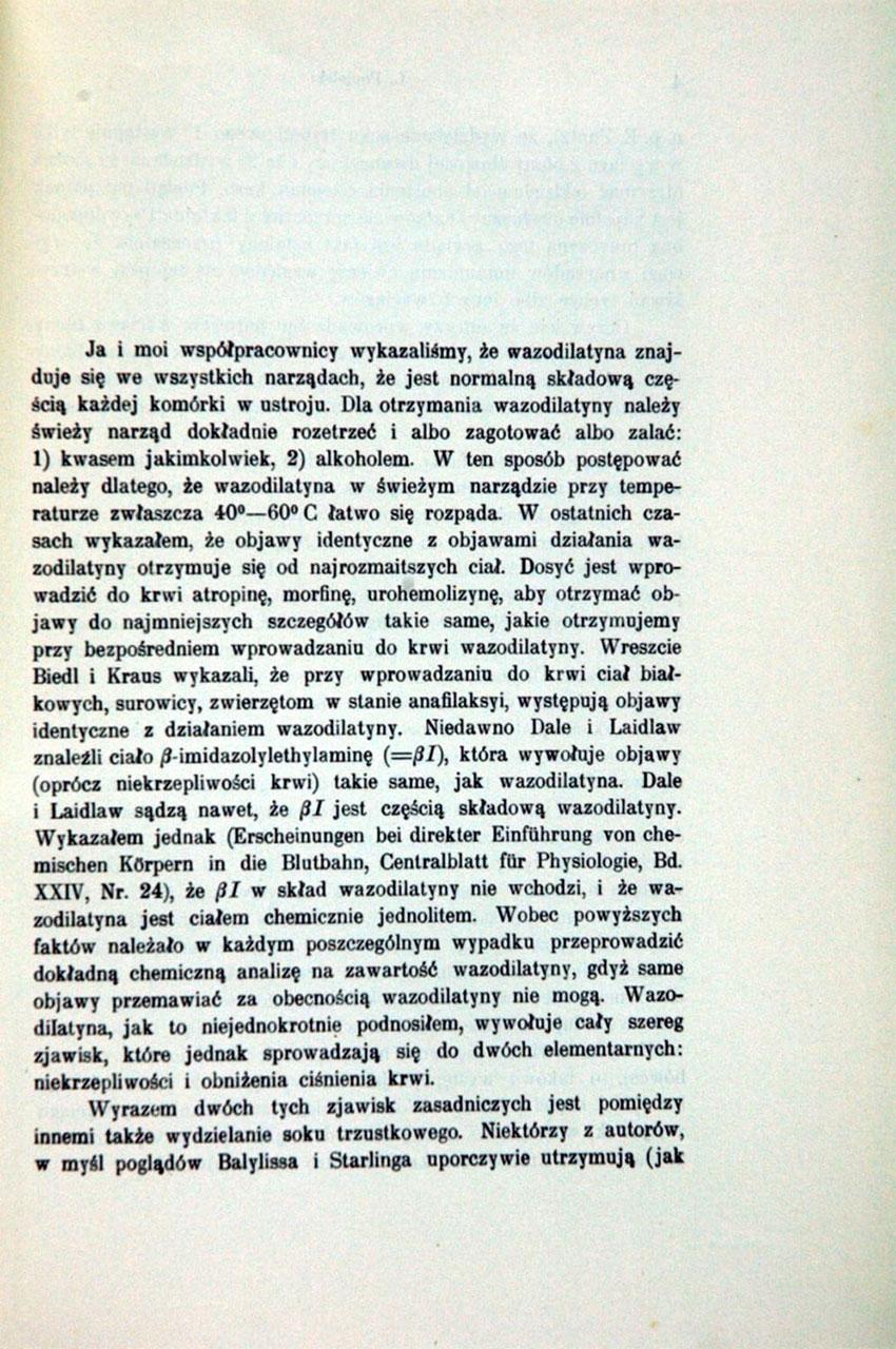 O rozpowszechnieniu wasodilatyny w świecie zwierzęcym. St.2