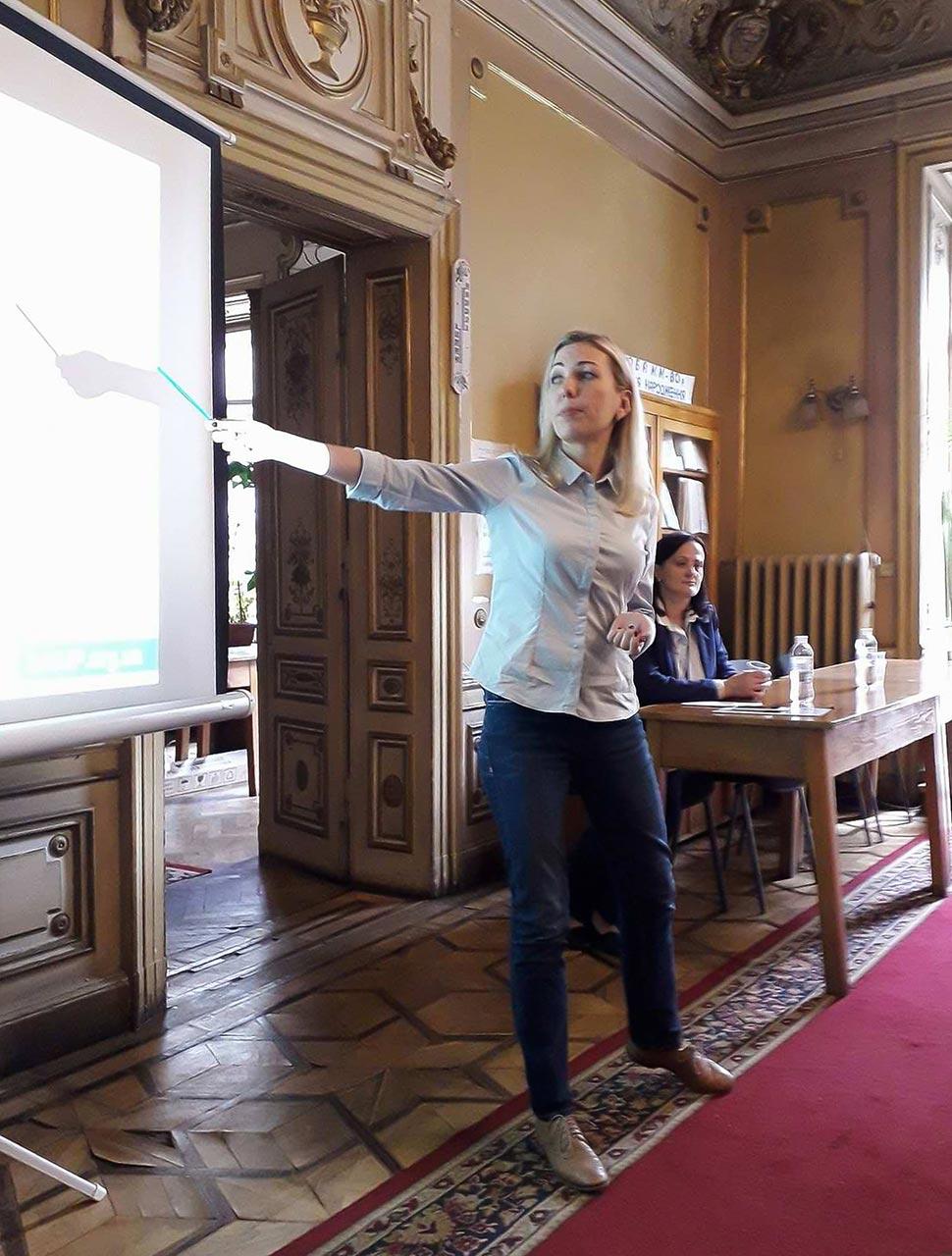 Виступає спеціаліст Проекту сприяння академічній доброчесності в Україні Юлія Солодько