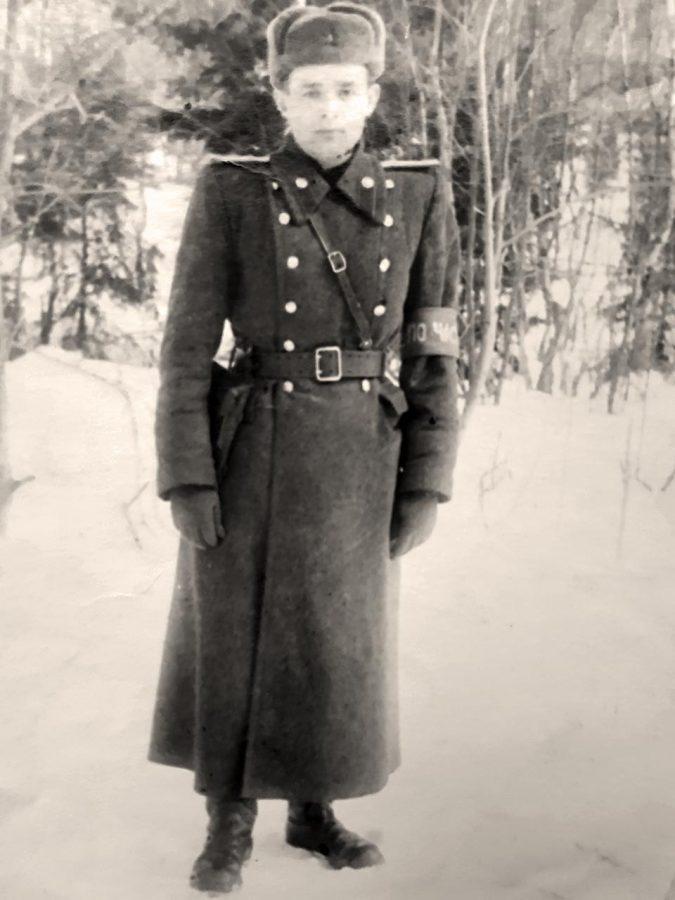 Панасюк Є. М. під час військової служби, 1952 р.