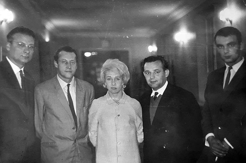 Доц. Панасюк Є. М. під час конференції у Львові, 1968 р.