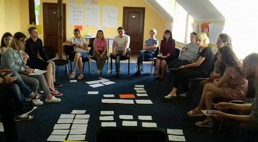 Робочий момент тренінгу «Інклюзивність в молодіжних центрах», 5-7 липня 2018 року, м. Рівне