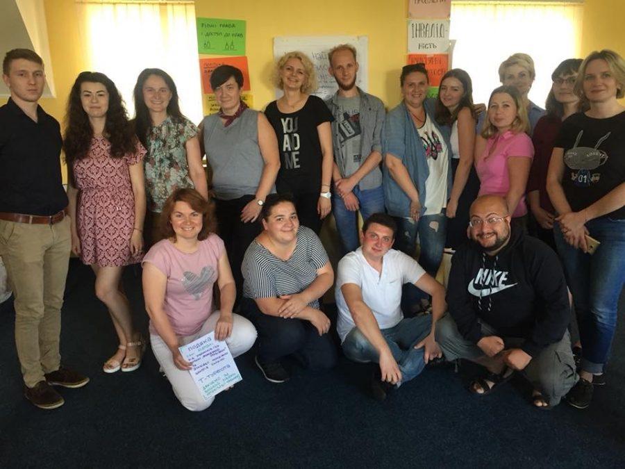 Учасники спеціалізованого тренінгу «Інклюзивність в молодіжних центрах», 5-7 липня 2018 року, м. Рівне