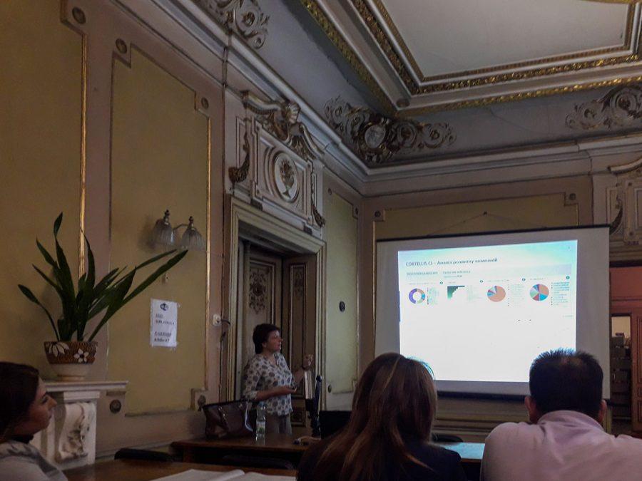 Виступає експерт з інформаційно-аналітичних ресурсів та навчання Clarivate Analytics Ірина Тихонкова